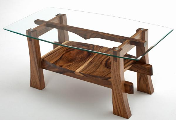 Contemporary Rustic Coffee Table With Glass Design Contemporary