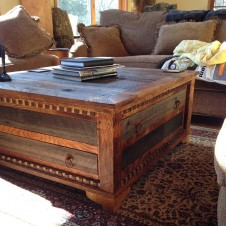 Country Roads Reclaimed Wood Square Coffee Table Rustic Square Coffee Tables (Photo 2 of 9)