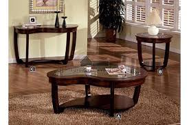 Crystal Falls Dark Cherry Wood Finish Contemporary Style Design Oval End Table With A Glass (View 6 of 9)