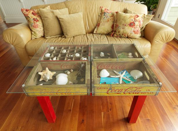 DIY Ottoman Coffee Table A Glass Coffee Table