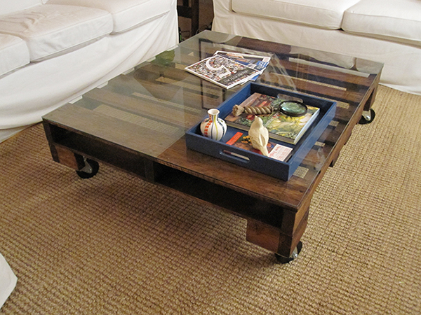 Diy Ottoman Coffee Table Clear Rectangle Shape Glass And Stainless Steel Coffee Table Contemporary Modern Designer (View 3 of 10)