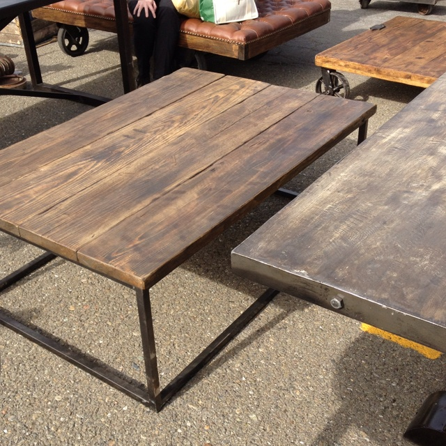 Diy Industrial Table With Reclaimed Wood Rustic Industrial Coffee Table (View 2 of 10)