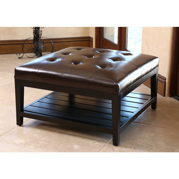oversized sidelights coffee ottoman table bench front doors leather large decorative storage footstool with