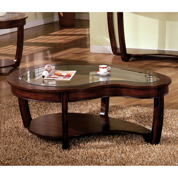 Featured Photo of Dark Wood Coffee Table With Glass Top