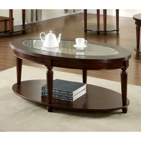 Dark Wood Coffee Table With Glass Top Also Glass Material Increases The Space Of All Rooms (View 3 of 9)
