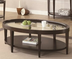 Dark Wood Coffee Table With Glass Top The Possibilities Are Endless With These Versatile Nesting Tables Of Three Different Sizes (View 6 of 9)