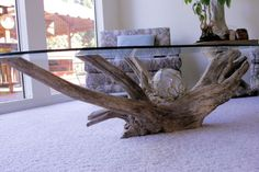 Featured Photo of Driftwood Glass Coffee Table