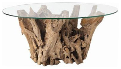 Driftwood Glass Coffee Table Furniture Rustic Meets Elegant In This Spherical Inspiration Ideas Simple And Neat Look (View 3 of 10)