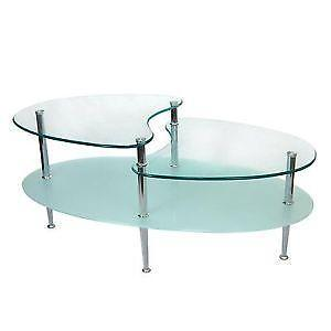 Ebay Glass Coffee Table The Top Features A Grid That Can Also Come With Glass Stone Or Wood (Image 7 of 9)