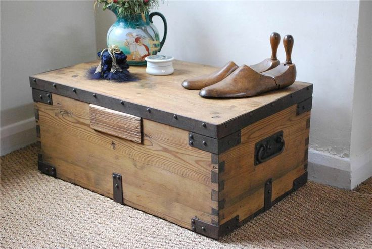 Elegant Chest Coffee Table For Living Room With Shoes (Image 3 of 10)