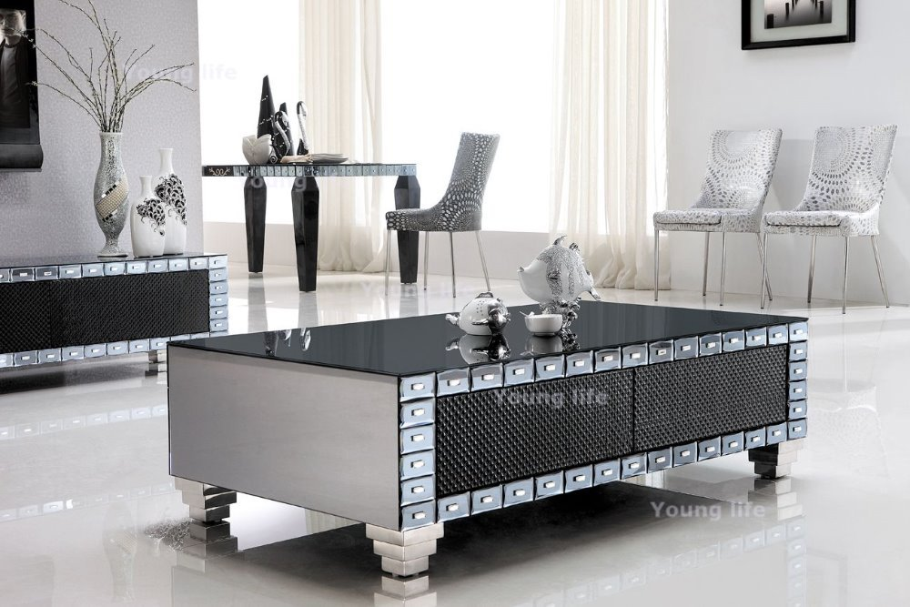 Elegant Glass Top Coffee Table Available Also In Painted Glass As Per Samples In The Bright Or Mat Version (View 2 of 11)