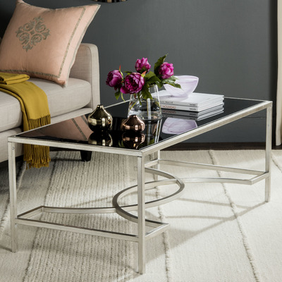 Elegant Glass Top Coffee Table Furniture Inspiration Ideas Simple And Neat Look The Shelf Underneath Is For Magazines (View 3 of 11)