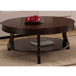 Espresso Coffee Table As Ottoman Coffee Table For Refinishing Table Of Elegant Coffee And End Tables Sets (Image 8 of 10)