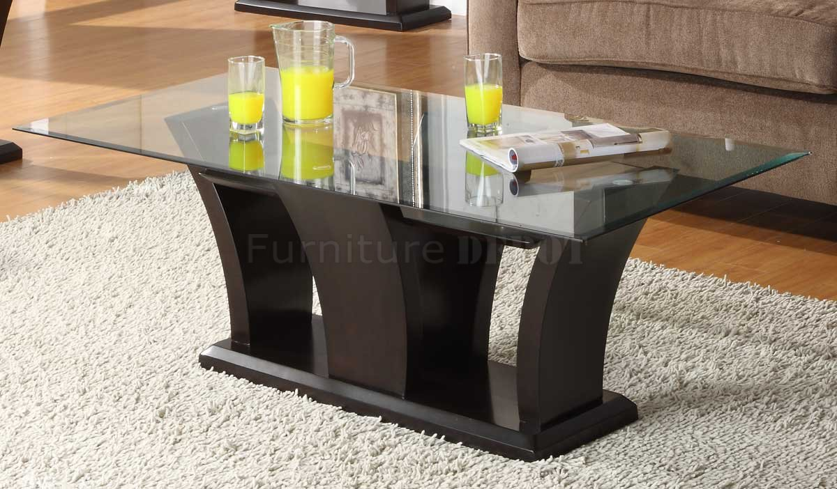 Espresso Coffee Table With Glass Top The Possibilities Are Endless With These Versatile Nesting Tables Of Three Different Sizes. Scatter Them As Side Tables (Image 7 of 9)