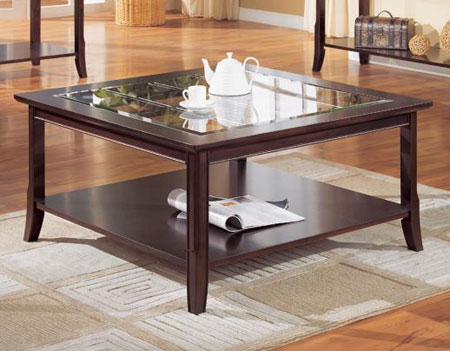 Espresso Coffee Table With Glass Top Use The Largest As A Coffee Table Or Group Them For A Graphic Display (Image 8 of 9)