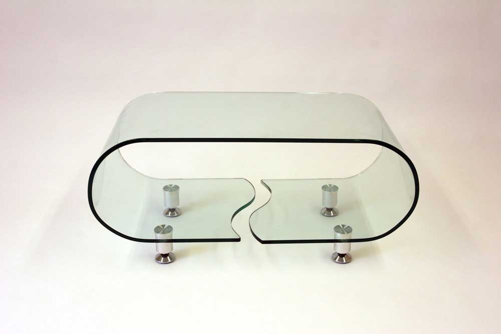 Full Glass Coffee Table Beautiful Interior Shape Ensures That This Piece Will Make A Statement Furniture Design (Image 2 of 10)
