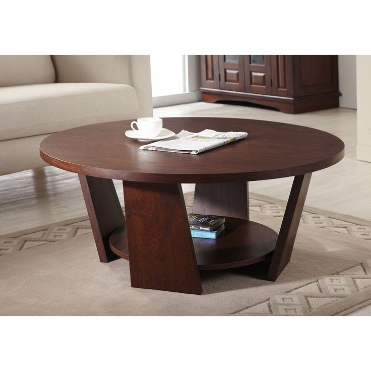 Furniture Of America Amber Round Overstock Round Coffee Table (View 5 of 10)