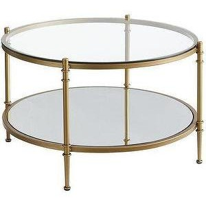 Featured Photo of Round Gold Coffee Table  Decor