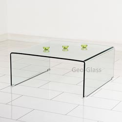 Geo Glass Coffee Table An Ultra Modern Clear Angled Glass Media Side Table Which As Well As Looking A Fantastic Piece Of Glass Furniture On Its Own (View 1 of 10)