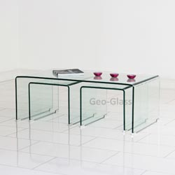 Geo-Glass-Coffee-Table-Handmade-Contemporary-Furniture-Too-Much-Brown-Furniture-A-National-Epidemic-Rustic-meets-elegant-in-this-spherical-Rare-Vintage-retro-60s-A-Youn (Image 4 of 10)