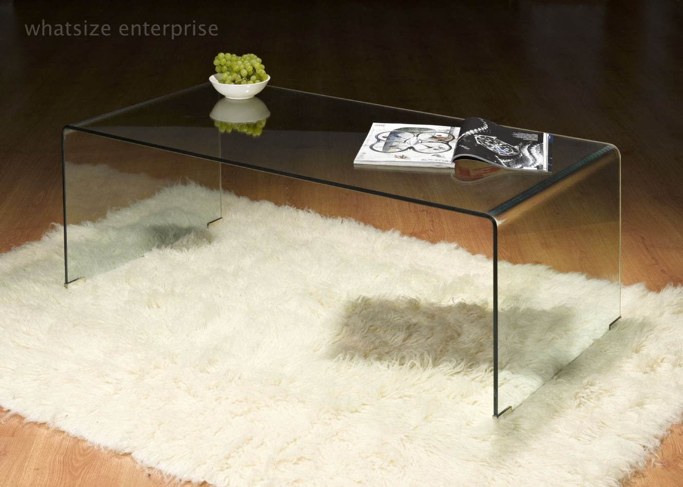 Geo-Glass-Coffee-Table-Modern-clear-bent-glass-rectangular-Available-also-in-painted-glass-as-per-samples-in-the-bright-or-mat-version-coffee-table-Strada-modern (Image 8 of 10)