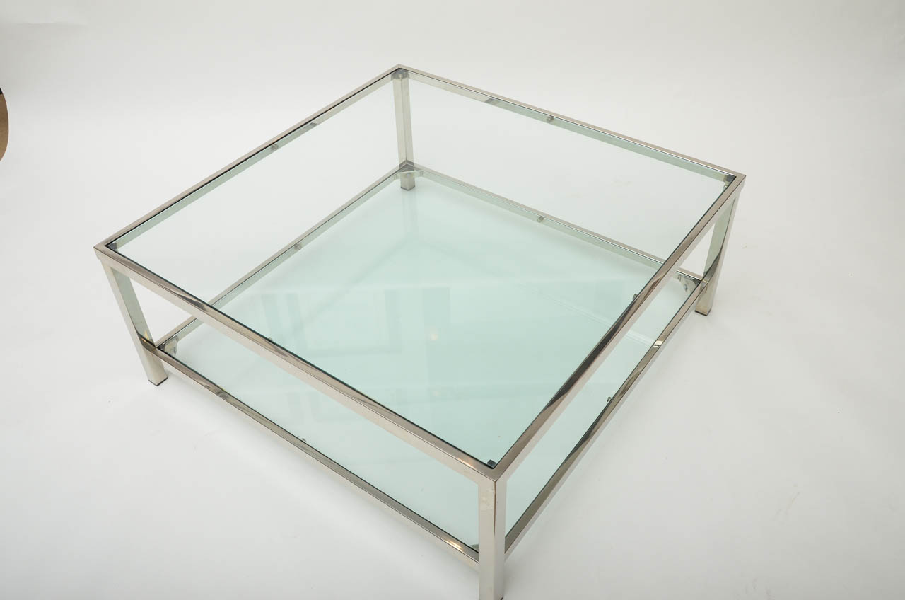 Geo Glass Coffee Table Glass Rectangular Coffee Table With Shelf On Furniture Design Ideas From Glass Coffee Tables And End Tables (View 2 of 10)
