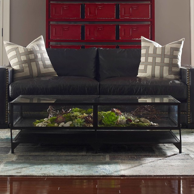 Glass Box Coffee Table Furniture Inspiration Ideas Simple And Neat Look The Shelf Underneath Is For Magazines Handmade Contemporary Furniture Too Much Brown Furniture A Nati (Image 4 of 10)