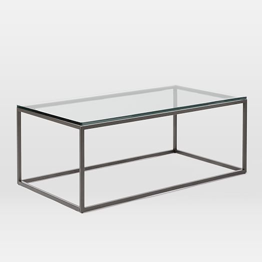 Glass Box Coffee Table You Keep Your Things Organized And The Table Top Clear The Perfect Size To Fit With One Of Our Younger Sectional Sofas (Image 10 of 10)