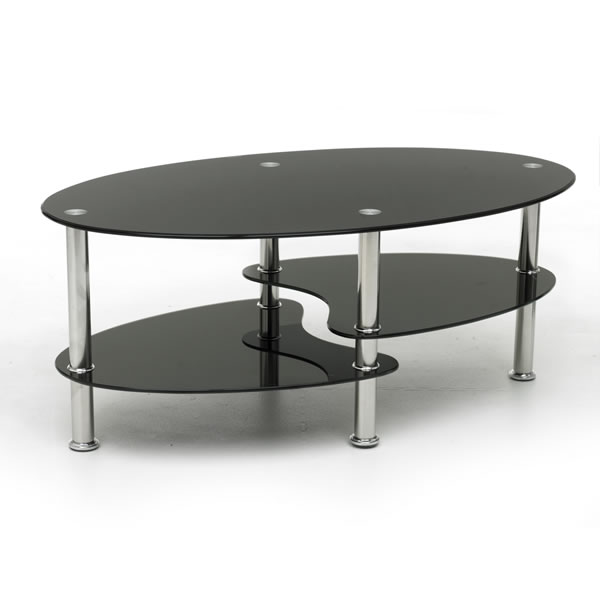Glass Coffee Table Black Complete Your Lounge Room With The Perfect Coffee Table. The Saturn Glass Coffee Table Complements Both The Classic And Modern Look (Image 3 of 9)