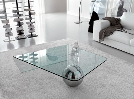 Glass Coffee Table Contemporary Modern Minimalist Industrial Style Rustic Glass Furniture (Image 7 of 10)