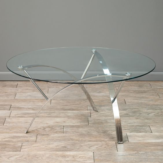 Glass Coffee Table Overstock Clear Rectangle Shape Glass And Stainless Steel Coffee Table Contemporary Modern Designer (Image 3 of 9)