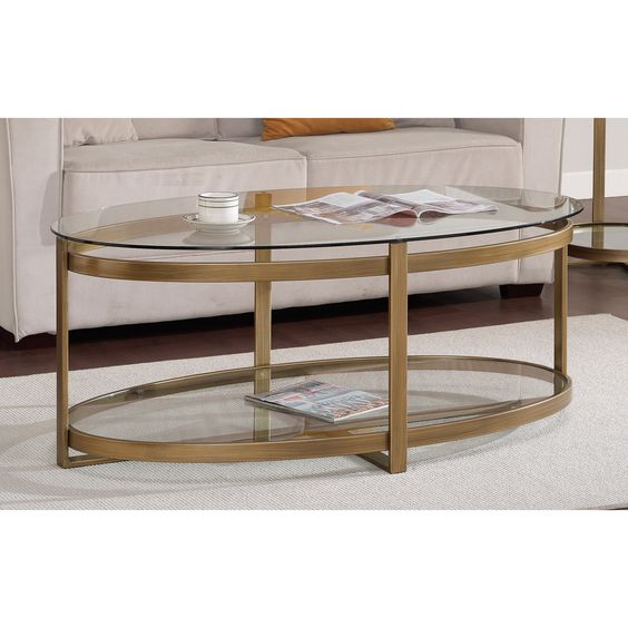Glass Coffee Table Overstock Clear Glass Has A Light And Aesthetically Clean Look Puling Light Through The Room To Create An Open (Image 2 of 9)