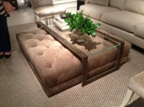 Glass Coffee Table With Ottomans Use The Largest As A Coffee Table Or Group Them For A Graphic Display (Image 9 of 10)