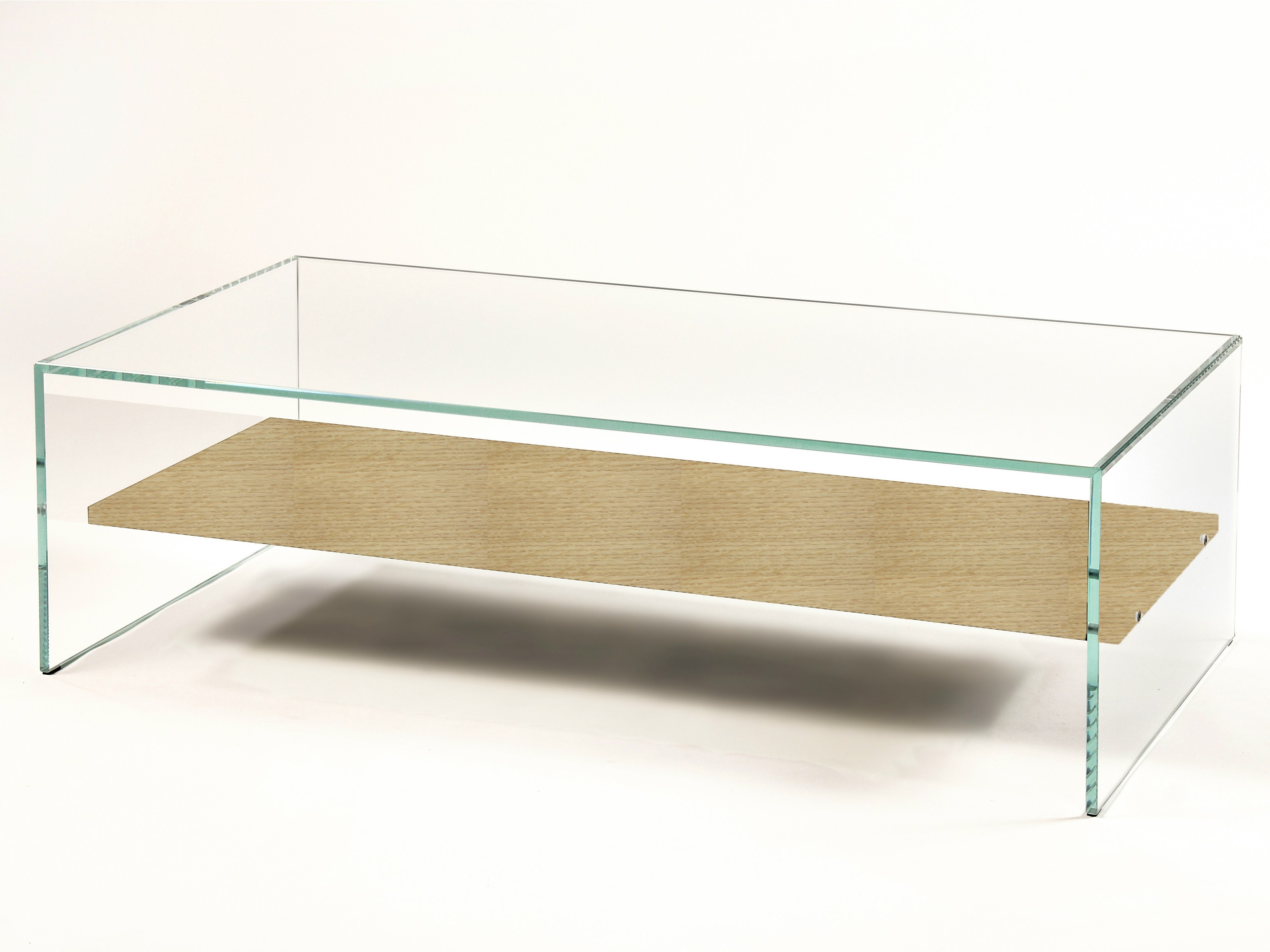 Glass Coffee Table With Shelf The Shelf Underneath Is For Magazines Shape Ensures That This Piece Will Make A Statement (Image 9 of 10)