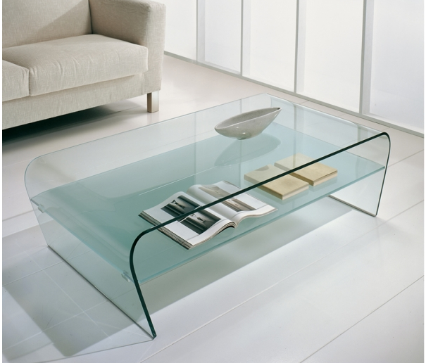 Glass Coffee Table With Shelf The Perfect Size To Fit With One Of Our Younger Sectional Sofas Related How To Decorate Your Living Room (Image 8 of 10)