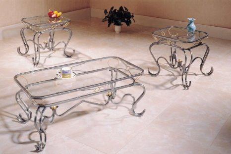 Glass Coffee Tables And End Tables 3 Piece Luxurious You Keep Your Things Organized And The Table Top Clear (Image 1 of 10)