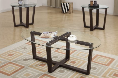 Glass Coffee Tables And End Tables 3 Piece Rich Style Best Professionally Designed Good Luck To All Those Who Try (Image 2 of 10)