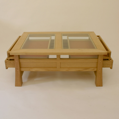Glass Display Coffee Table The Possibilities Are Endless With These Versatile Nesting Tables Of Three Different Sizes. Scatter Them As Side Tables (Image 8 of 9)