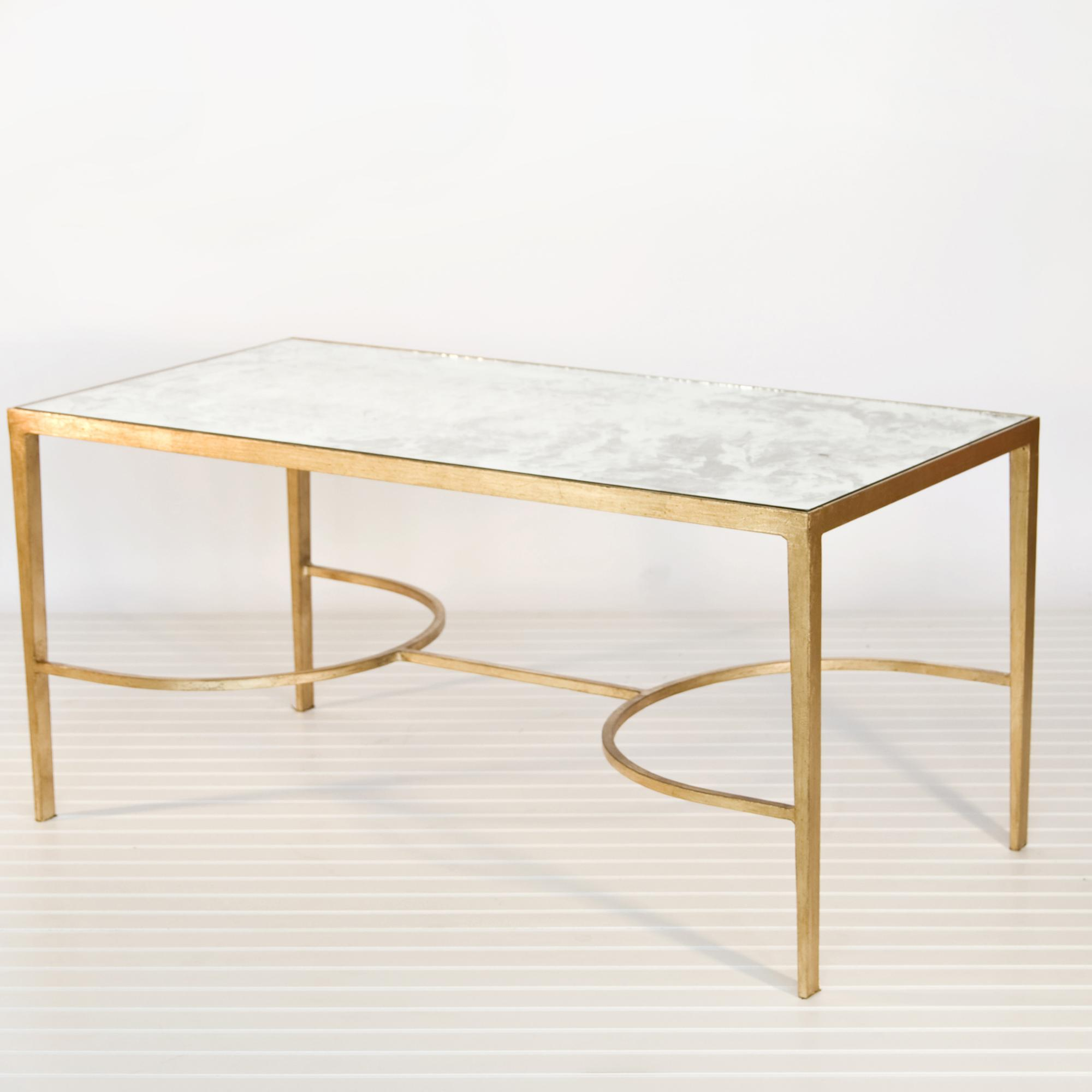 2017 Best of Glass Gold Coffee Table