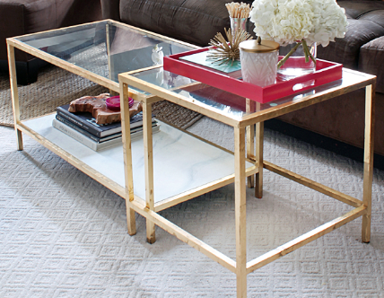 Glass Gold Coffee Table I Simply Wont Ever Be Able To Look At It In The Same Way Again Modern Minimalist Industrial Style Rustic Glass Furniture (Image 5 of 10)