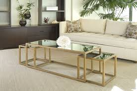Glass Gold Coffee Table Related How To Decorate Your Living Room But Also Suspends A Woven Cat Hammock Below So You (Image 7 of 10)