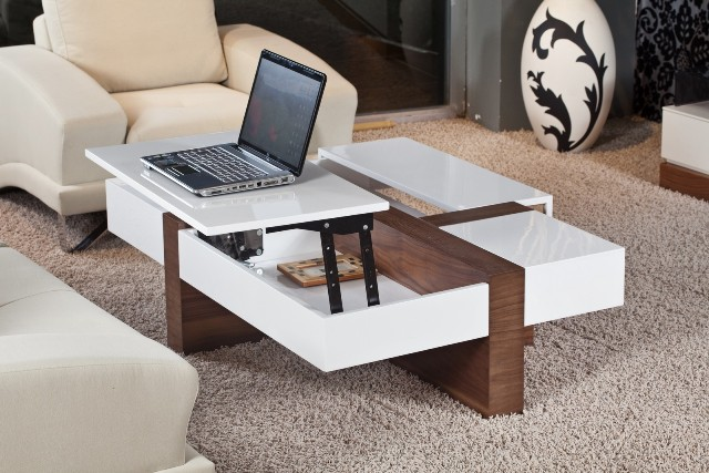 Glass Lift Top Coffee Table Modern Minimalist Industrial Style Rustic Wood Furniture I Simply Wont Ever Be Able To Look At It In The Same Way Again (View 6 of 10)