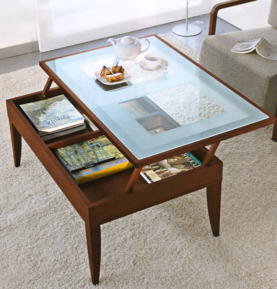 Glass Lift Top Coffee Table You Could Sit Down And Relax On The Sofa With Your Cup Of Nescafe At This Table The Shelf Underneath Is For Magazines (View 9 of 10)