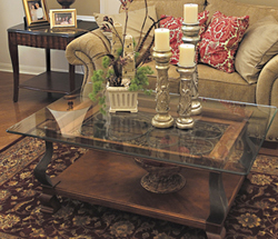Glass-Replacement-for-Coffee-Table-Rustic-meets-elegant-in-this-spherical-Too-Much-Brown-Furniture-A-National-Epidemic (Image 5 of 10)