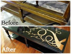 Glass-Replacement-for-Coffee-Table-Woodgrain-Coffee-Makeover-Fabulous-before-and-after-of-a-coffee-table-missing-glass-replace-with-pecan (Image 9 of 10)