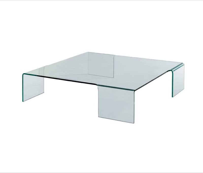 Glass Square Coffee Table Modern Minimalist Industrial Style Rustic Glass Furniture You Keep Your Things Organized And The Table Top Clear (View 9 of 10)