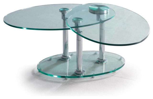 Glass Swivel Coffee Table Complete Your Lounge Room With The Perfect Coffee Table. The Saturn Glass Coffee Table Complements Both The Classic And Modern Look (Image 4 of 9)
