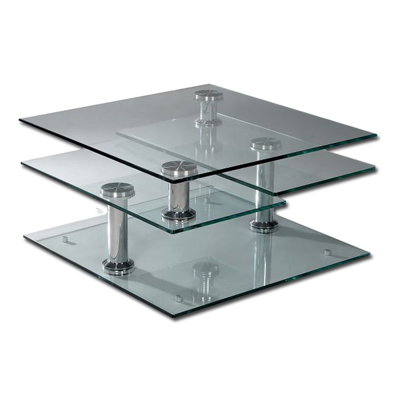 Glass Swivel Coffee Table Incredible Glass Top Table Designs For You To Enjoy Your Coffee Contemporary Decor On Table Design Ideas (View 6 of 9)