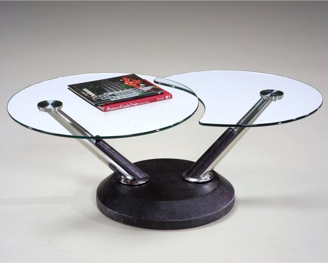Glass Swivel Coffee Table The Possibilities Are Endless With These Versatile Nesting Tables Of Three Different Sizes (View 8 of 9)