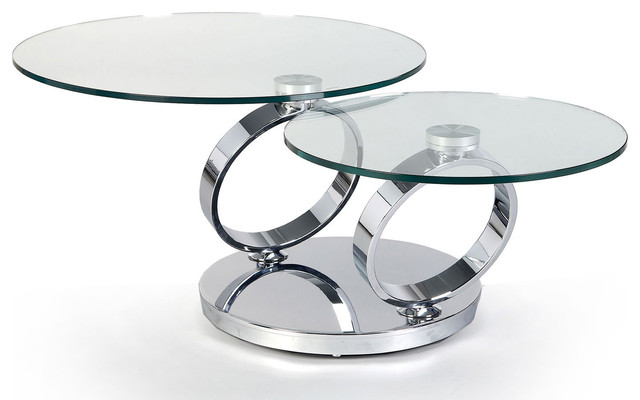 Explore Photos of Glass Swivel Coffee Table Showing 9 of 9 Photos